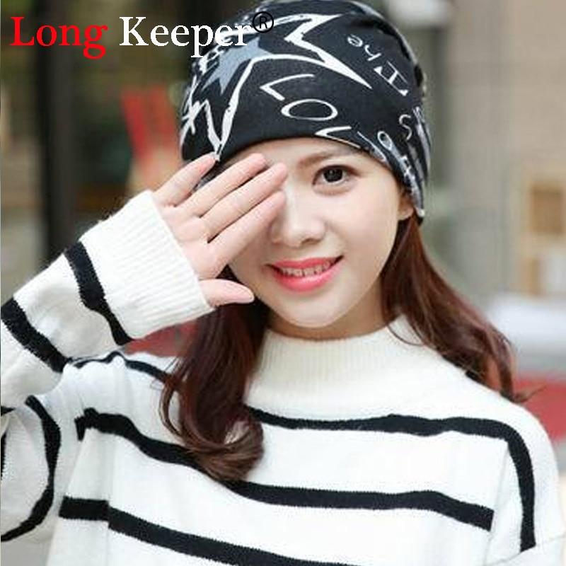 Venta caliente otoño moda nueva knit baggy Beanie hat con estrella sombreros  de invierno femenino caliente para Niñas las mujeres Bonnet cabeza 168a151c8e6