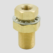 Legines Brass Pipe Fitting, Bulkhead Coupling, 1/4,3/8,1/2Male(pack of 2)