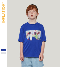 INFLATION Boys Tshirts Summer Short Sleeve Cotton Girls Tops Tees Kids T Shirt Picture Printing Fashion Children Clothes 19209S