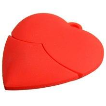 Wholesale Portable Capacity Red Heart Shape 32GB USB 2 0 Flash Pen Drive Memory Stick Pendrive