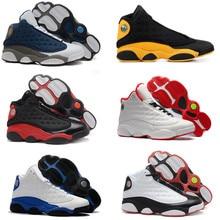 цены 13 Basketball Shoes Men Bred Atmosphere Grey Particle Graduation Class of 2002 Sport Sneakers Hyper Royal Blue Black Size 7-13