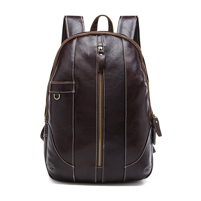 100% Genuine Leather Men And Women Backpack For High Quality Male Backpacks Luggage & Men's Travel Bags Male Large Capacity Bag large men s backpack fashion male 14 inches laptop bag travel bags high quality top leather men waterproof backpacks aw282