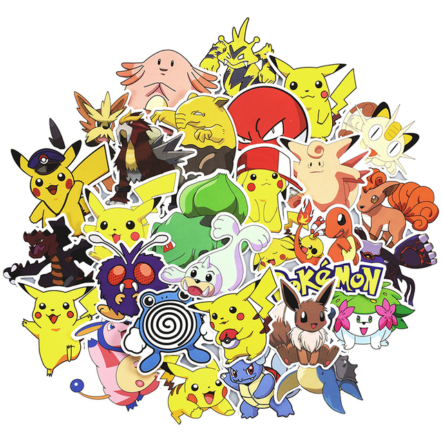 Mixed Pikachu Stickers Decal 100 Pcs