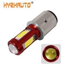 HYZHAUTO 1 шт. H6 BA20D светодиодный фонарь для мотоцикла Hi-Lo луч светодиодный мото мотоцикл Скутер ATV фара противотуманная фара белый 12-80 в