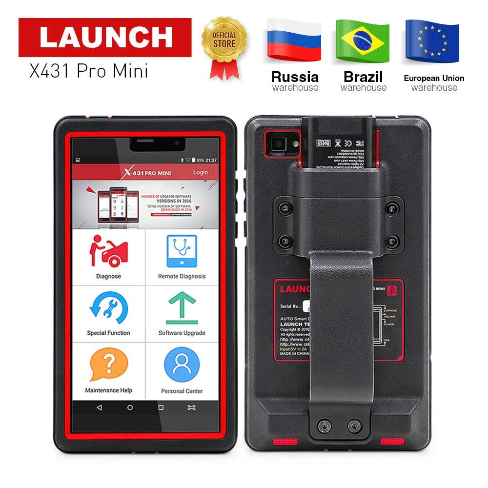 Lanzamiento X431 Pro Mini sistemas completos herramienta de diagnóstico Auto WiFi/Bluetooth X-431 Pro mini OBD2 coche escáner 2 años actualización libre X431 V