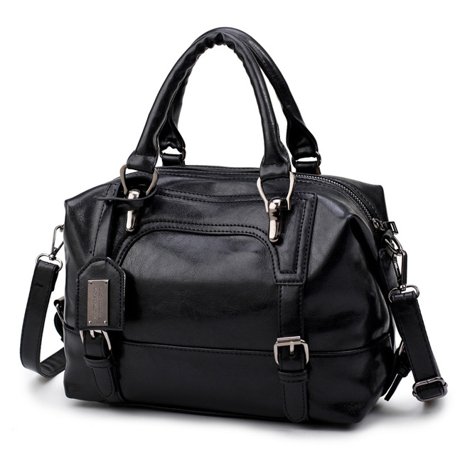 Wax Oil Pu Leather Bag...