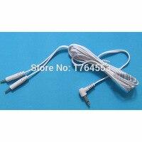 10 Sztuk/partia 2.5mm 2 W 1 Plug-in Przewody Elektrod Kable Dla Pad Elektrody DZIESIĄTKI Cyfrowe Terapii Masażu masażer