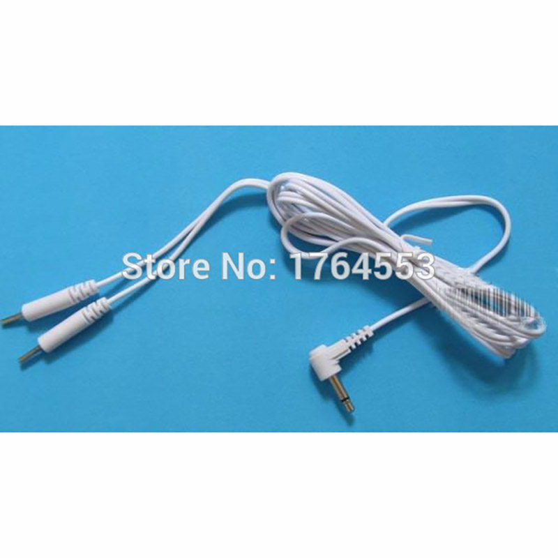 ⑥10PCS/Lot 2.5mm 2 IN 1 Plug-in Electrode Wires Massager Cables For ...