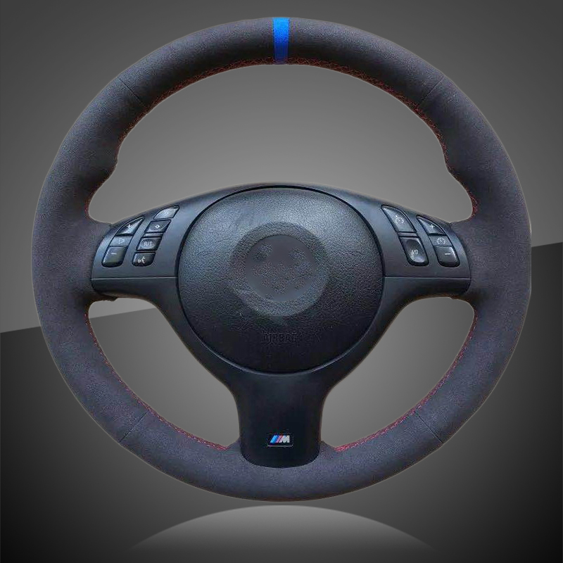 Auto Braid On The Steering Wheel Cover For BMW E46 E39 330i 540i 525i 530i 330Ci M3 2001-2003 Interior Car Steering Wheel Cover