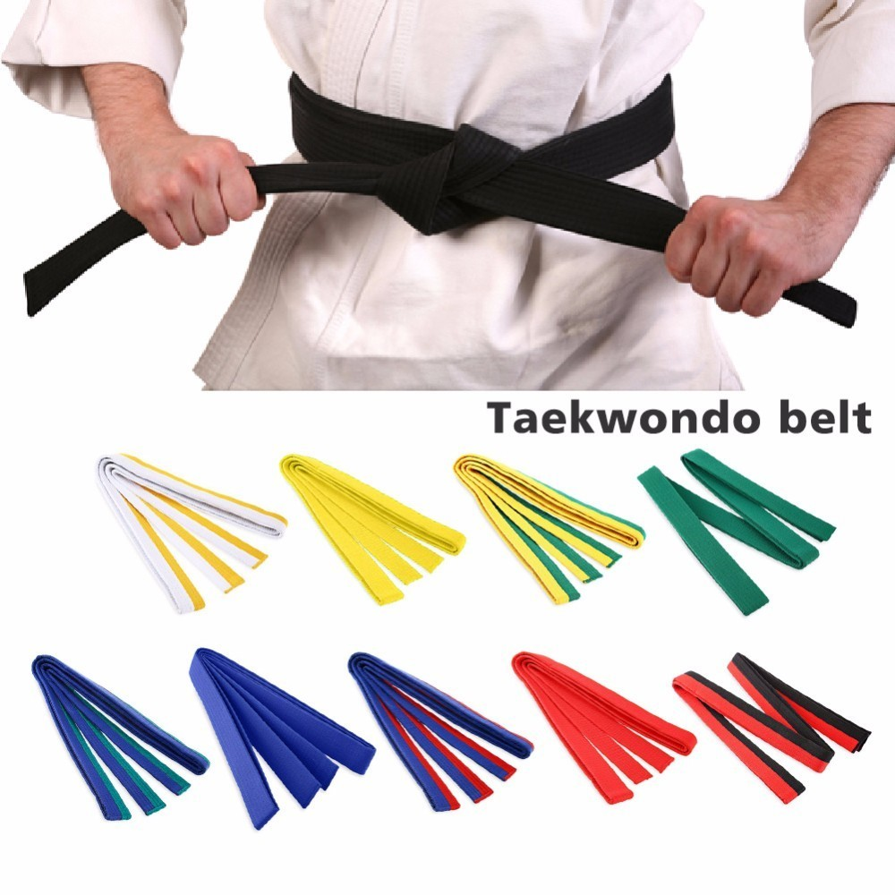 Martial Arts Rank Belts Karate Tae Kwon Do Child Adult Double Wrap Black Stripe