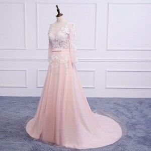 Image 3 - Asil WEISS Robe De Soiree aplikler seksi uzun abiye gelin ziyafet zarif mahkemesi tren Custom Made balo elbise