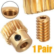 Высокая твердость мотор выход латунь Червячное колесо шестерни золото латунь Червячное колесо 0,5 Модуль 1:10 редуктор Передаточное отношение
