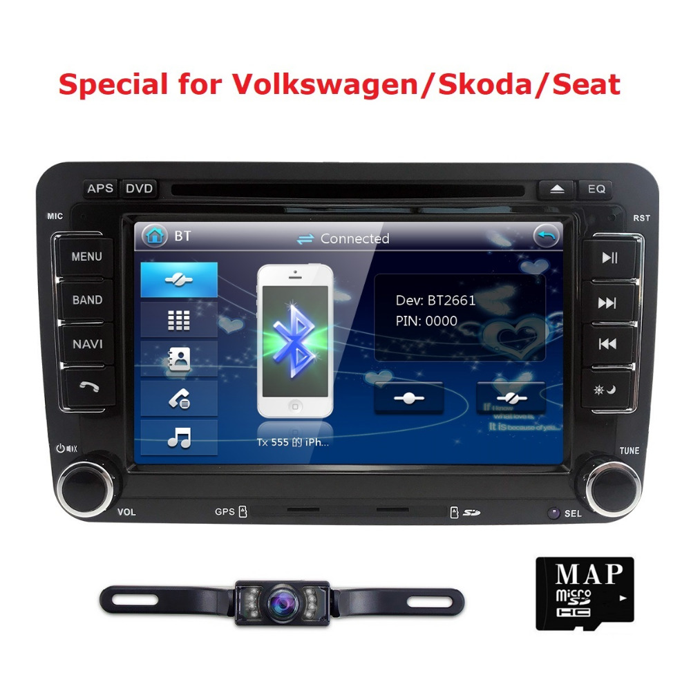 7 2Din CAR DVD GPS Navi Speler for VW Passat B6cc Skoda Octavia 2 golf 5 Polo Tiguan Jetta T5 Transporter amarak Seat AutoRadio