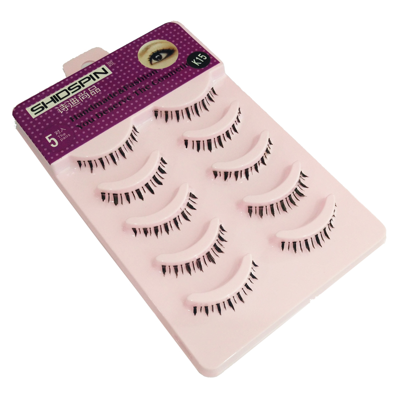 SHIDISHANGPIN 5 Pairs False Eyelashes Lower eye Lashes Natural Handmade Fake Eeyelash Extension Makeup Tool Faux Cils #K15