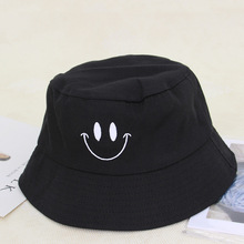 New 2019 Smile Embroidery Hat Fisherman Caps For Men Women Solid Outdoo Summer Lovers Street Hip Hop Dancer