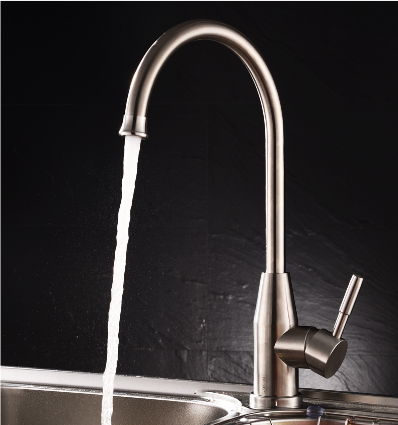 304 Stainless Steel Lead free Kitchen Faucet Mixer Drinking Water Filter Kitchen Tap Purified Water Spout Kitchen Faucet Tap-in Kitchen Faucets from ...
