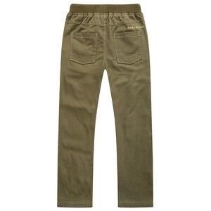 Image 2 - Nova moda primavera verão outono meninos calças 100% algodão calças criança casual comprimento total sólida para crianças 6 14years