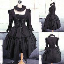 Custom-madeV-1111 Black long-sleeve Gothic Lolita Dress victorian dress  Cocktail 23f9a9b2bde9