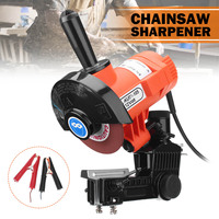 85W 12V DC Chain Saw Blade Grinder with Guide Plate Clamp Electric Chainsaw Sharpener Bar Mounted Metal Woodworking Tool
