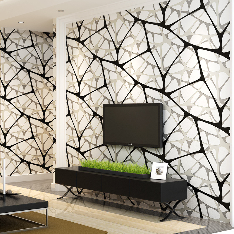 beibehang Modern minimalist 3D non-woven wallpaper Black and white bird nest water cube wallpaper Living room wall background shengshou 10x10x10 magic cube puzzle black and white and primary learning
