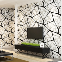 beibehang Modern minimalist 3D non woven wallpaper Black and white bird nest water cube wallpaper Living room wall background