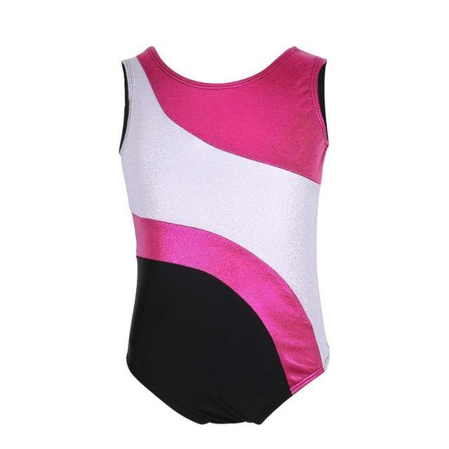 b60221efa Girls One Piece Gymnastics Leotard Kids Girls Stripes Ballet Tutu ...