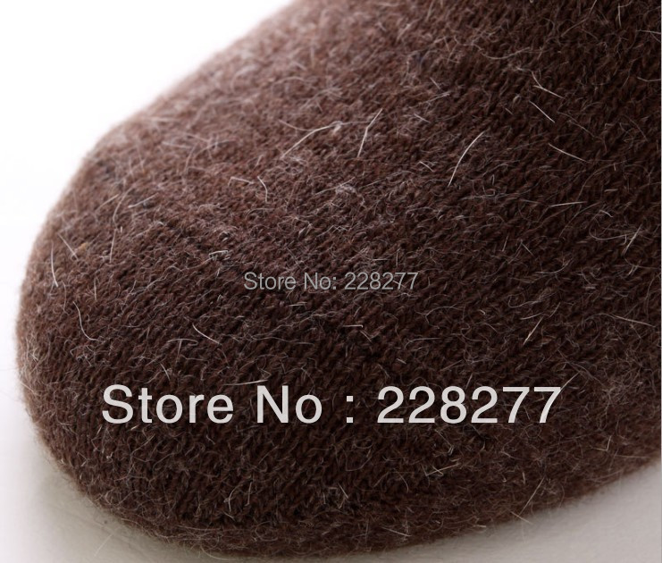 Free Shipping 20pcs=10 pairs/lot wool&rabbit Mans winter Socks, from factory man sox men soks