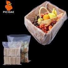 PE Matte Frosted Open Pocket Plastic Transparent Packaging Low Pressure Storage Box Bag Inner Membrane Powder Food Grain doll
