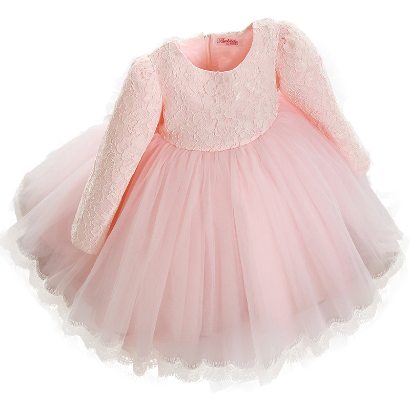 Dresses for young girl christmas princess red dress Pink wedding white flower girls dresses
