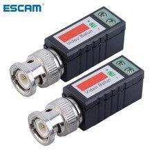 زوج واحد من جهاز إرسال واستقبال فيديو سلبي قناة واحدة ESCAM مهايئ محوري موصل BNC لكاميرا Balun CCTV DVR BNC UTP