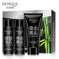 BIOAQUA Brand Face Skin Care Suction Black Mask Facial Mask Nose Blackhead Remove Peeling Off Black Head Acne Treatment 3pcs/lot
