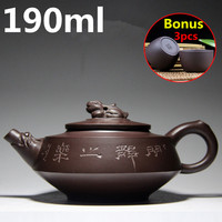 Hot Sale Chinese Porcelain Teapot 190ml Yixing Purple Clay Tea Pot Handmade Teapots Ceramic Zisha Tea