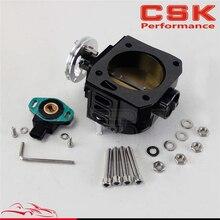 70 мм дроссельной заслонки/TPS Датчик положения дроссельной заслонки для honda K20/Civic/EP3/type R/Integra DC5 черный/серебристый