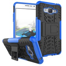 Tire Style Tough Rugged Dual Layer Hybrid Hard KickStand Duty Armor Case for Samsung Galaxy J2 Prime Mobile Phone Bags