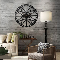 New 2019 Oversized 3D Retro Clock Silent Big Gear Iron Hanging Wall Clock Pattern Iron Hanging Clocks Roman Numerals Home Decor