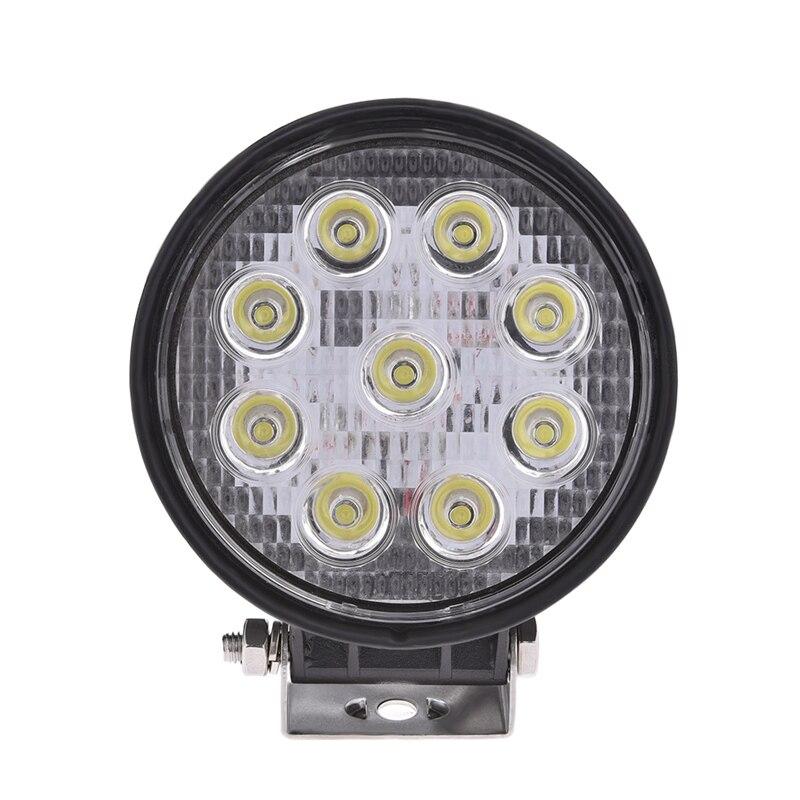 27W 9 Led Work Light Flood Fog Lamp For Off Road Car Truck Motorcycle Head Light Daytime Running Light 12V/24V