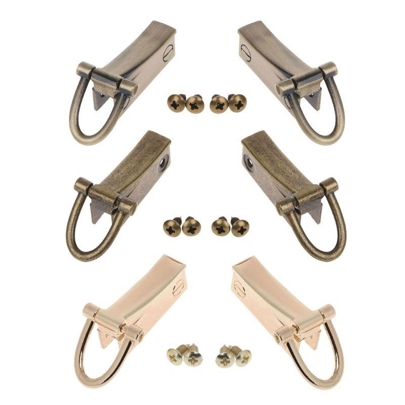 2 Side Metal Clip Hardware Clasp Accessory For DIY Purse Making Handbag Shoulder Crossbody Bags