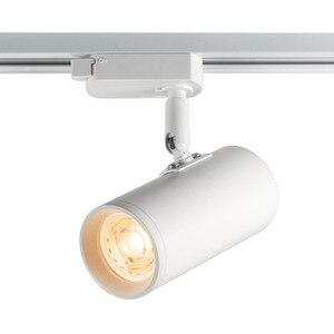 GU10 LED oświetlenie punktowe oprawa regulowana szyna Spotlight Home room iluminacao czarny biały 2 drut 1 3 fazowy Tracklight