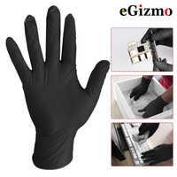 10 pièces confortable en caoutchouc jetable mécanicien laboratoire sécurité travail Nitrile gants noir sécurité travail gants 5 paires