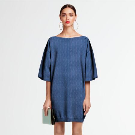 Bleu floral stretch mince soie tissu robe tweed scrapbook impression parti satin tissu africain en mousseline de soie bricolage textiles tissu A219