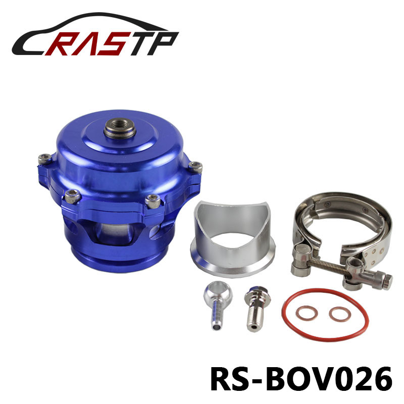 RASTP-High Quality Aluminum 50mm Blow Off Valve BOV Authentic with v-band Flange  RS-BOV026