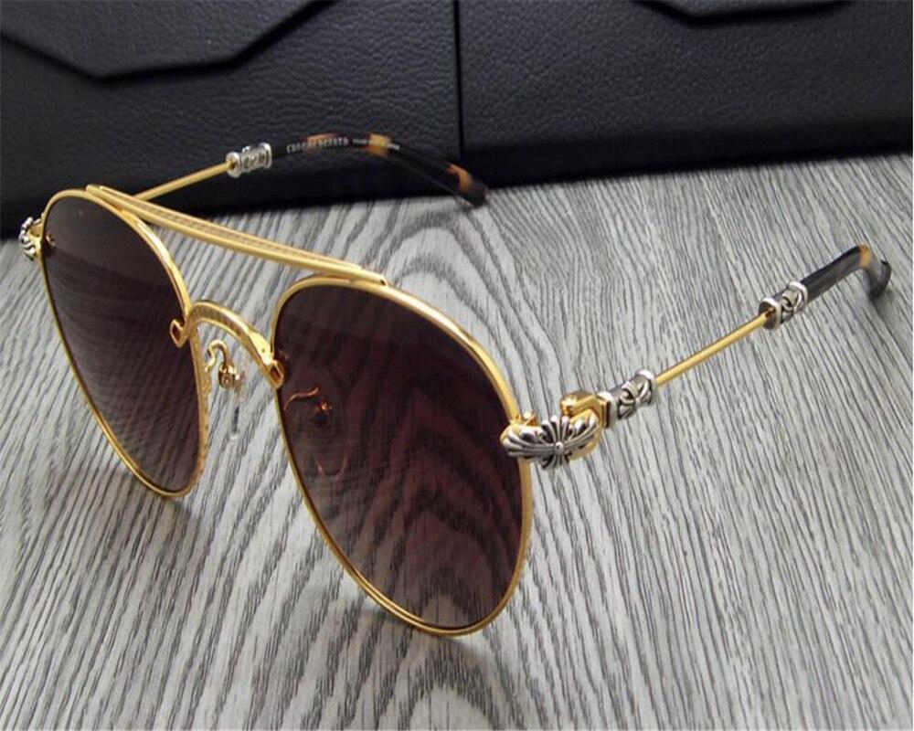 DOWER ME Unisex Retro Polarized Sunglasses Driving Alloy Vintage Black Gold Goggle Sunglasses Gafas Frame for Women Men