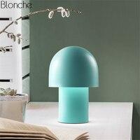 Современные гриб светодио дный настольная лампа металлические настольные лампы Лампы для чтения для Детская комната Спальня прикроватные