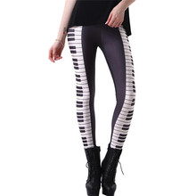 c3565baac1fb4 DOUBCHOW Womens Piano Key Digital 3D Print Leggings Pants Maiden Spandex  Shiny Stretchy Leggings Costume Skinny