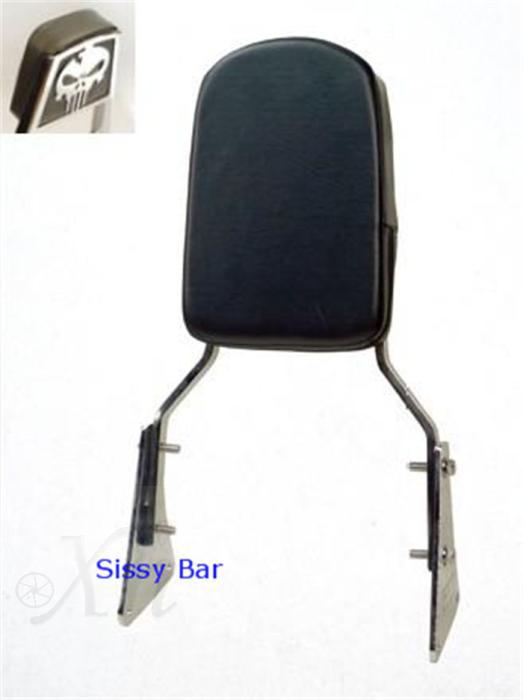 motorcycle parts Skull Backrest Sissy Bar for   Vulcan 1500 Classic All Years 1986-2013