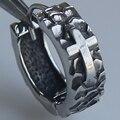 men jewelry cool  cross 316L stainless steel  men/boy's earring hoop punk