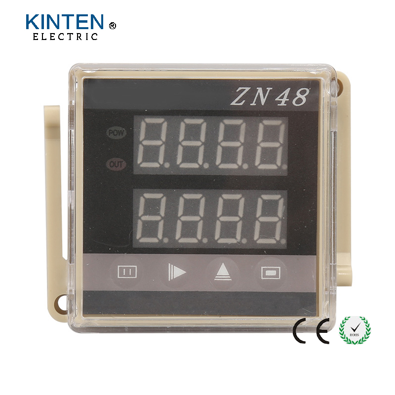 ZN48 Digital Double Row LED Display Time Relay Counter with 10 terminals  цены