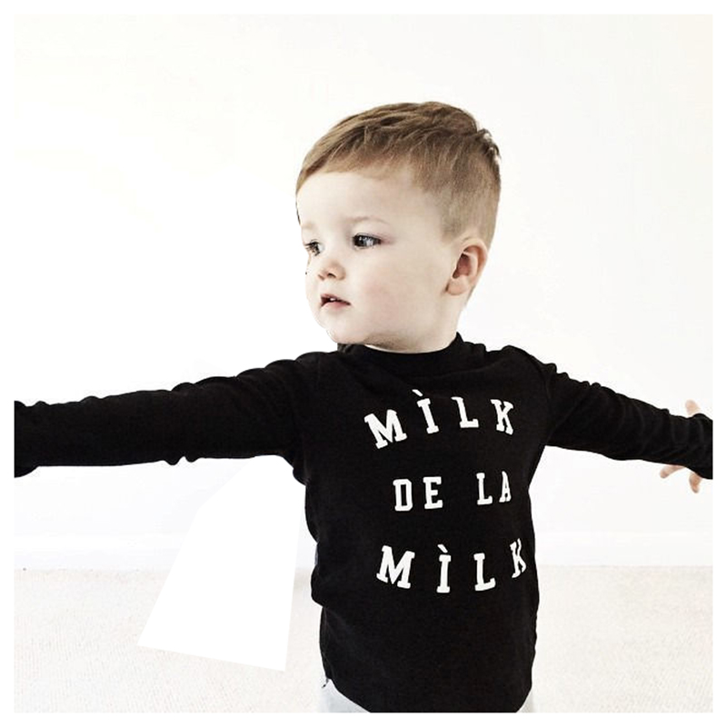 Abwe лучшие продажи для маленьких мальчиков милые топы с длинными рукавами футболка + брюки комплект одежды наряды черный размер 80 (для 0-12 мес...
