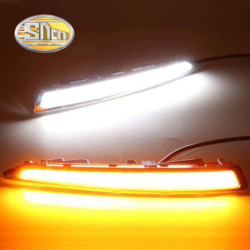 For Ford Escape Kuga 2013 2014 2015,With Turning Yellow Signal Relay Waterproof Car DRL LED Daytime Running Light Daylight SNCN комплект чехлов на весь салон seintex 85742 ford kuga 2013 black