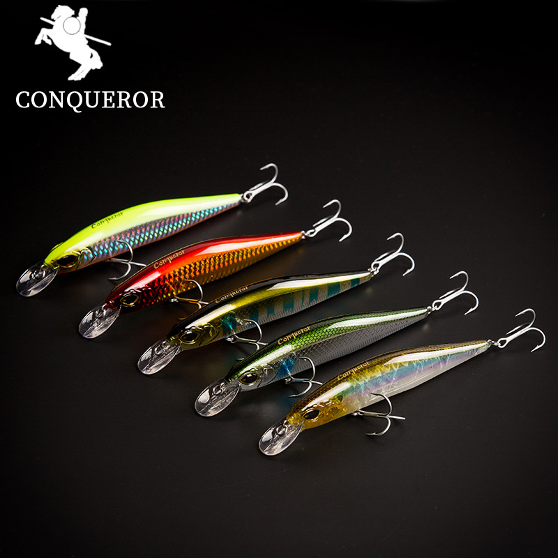 The magnet Conquero fishing lures,assorted colors quality Minnow 110mm 14g,Tungsten ball bearking 2017 model crank bait simpleyi 2017 new fishing lures assorted colors minnow crank 115mm 11g tungsten weight system hot model crank bait 6 colors